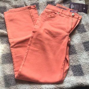 NWT Gloria Vanderbilt orange denim pants